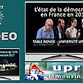L'état de la <b>démocratie</b> en France en 2017 – 1ère table ronde – Université UPR 2017