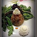 #316 - Aspic de <b>saumon</b> <b>fumé</b> crevettes et crabe