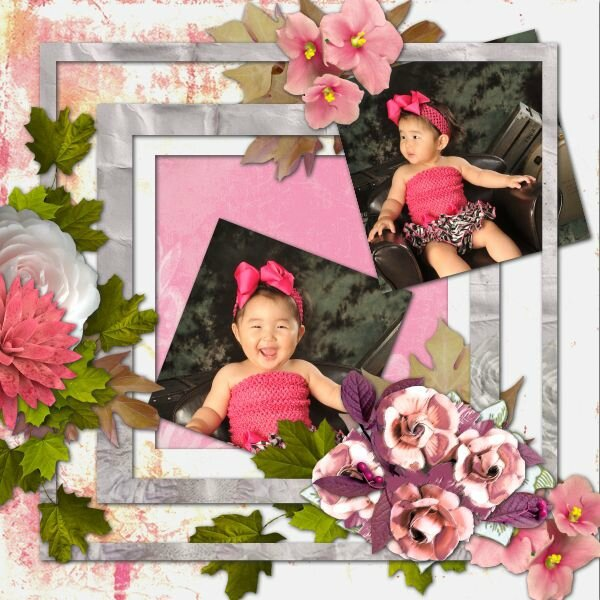 Scrap Talou - template 2 pack 13 - kit de Scrap'Talou La vie en rose- photo Gilles Greder