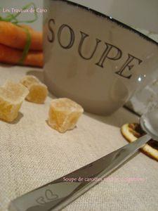 soupe carottes miel et gingembre 2