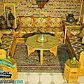 Sublime Salon marocain bois arabesque
