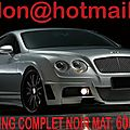 Bentley <b>Continental</b> GT, Bentley <b>Continental</b> GT, covering Bentley <b>Continental</b> GT noir mat