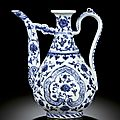Ming dynasty <b>blue</b> and white porcelains at Sotheby's Hong Kong 8 april 2010