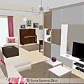 Projet client: modernisation d'un salon/séjour et d'un espace cuisine