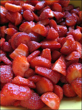 salade de fraises