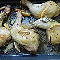 <b>poulet</b> au citron § au romarin