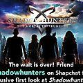 ShadowHunters: Premier teaser et Premier trailer!!!!!