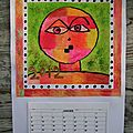 Calendrier inspiration Paul Klee