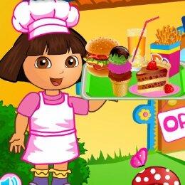 Dora-hamburger-bufe-jatek