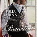 La chronique des Bridgerton, tome 3: Benedict -Julia <b>Quinn</b>.