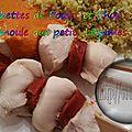 Brochettes de Poulet au Chorizo, Semoule aux Petits Légumes (au <b>Thermomix</b>)