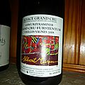 Pauillac : d'Armailhac 2000, <b>Saint</b> <b>Emilion</b> : Grand Mayne 2001, et Albert Mann : Gewurztraminer : Furstentum Vieilles Vignes 2008