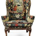 Two George I walnut wing armchairs, circa <b>1720</b>