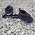 Chaussures marine, 6 mois