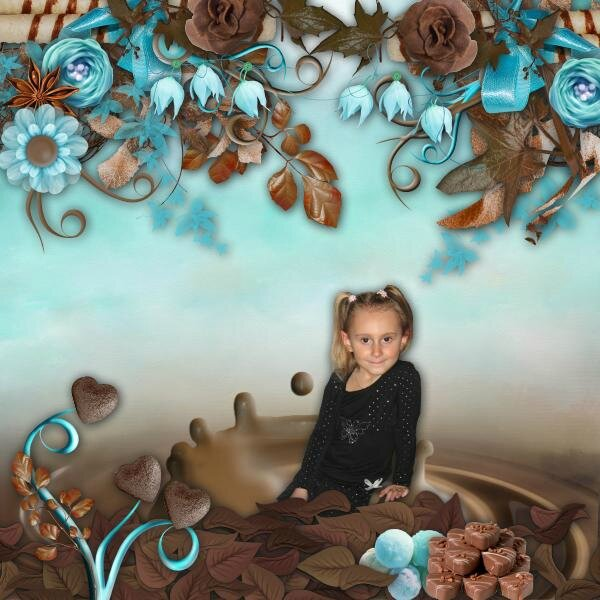 Stephy Scrap - Chocolate dream - photo Didine (page 1)