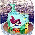Gateau Ariel la petite sirène -Little mermaid Ariel <b>cake</b>