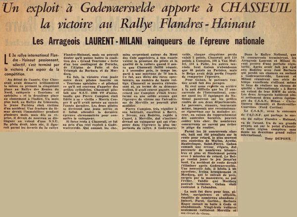 1966 - 3e Rallye Flandre-Hainaut GC2