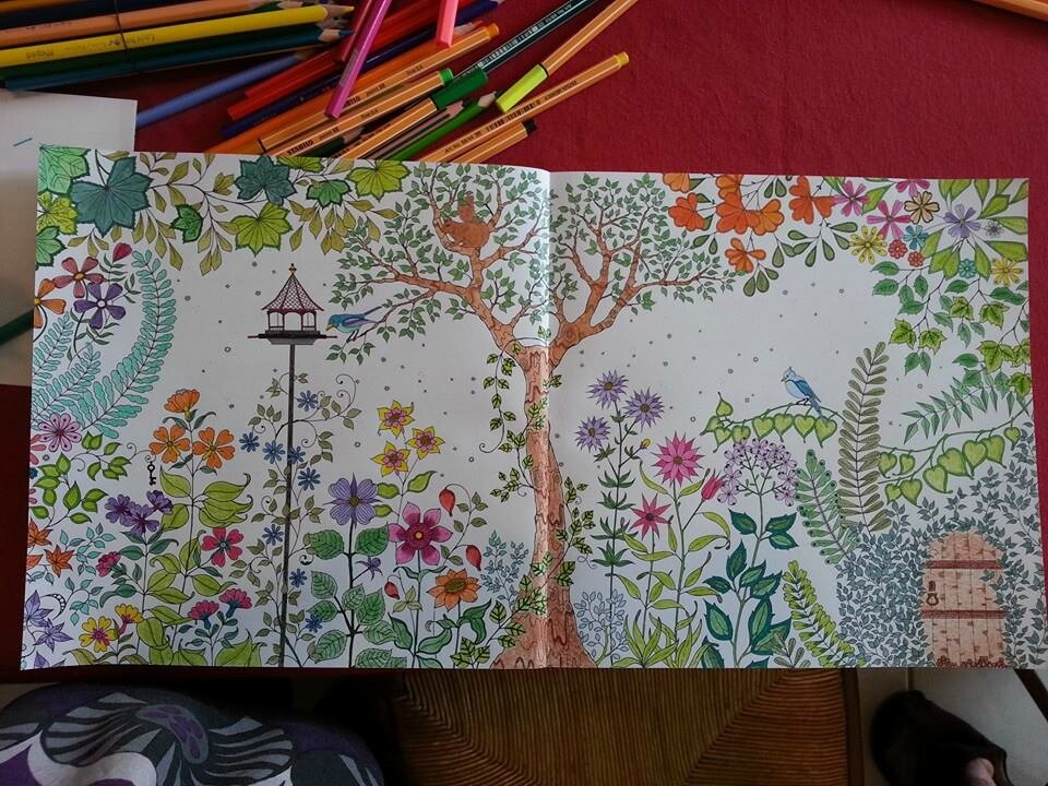 Coloriage for O jardin secret suresnes