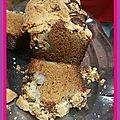 Cake crumble <b>bananes</b> et chocolat blanc