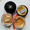 DUPE OU PAS DUPE ?:ILLUSION D'OMBRE CHANEL N°89 VISION & COLOR TATOO N°75-24 K GOLD <b>MAYBELLINE</b>