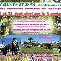 Poney Club De St JEan : école d'equitation centre équestre