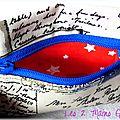 Une carte postale ... des étoiles ... une touche de rouge et de bleu ... un porte-monnaie <b>unisexe</b> !!