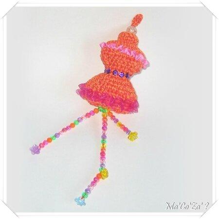 Porte-clef mannequin au crochet