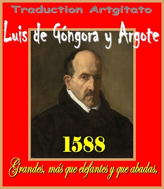 Grandes más que elefantes y que abadas Luis de Góngora y Argote Artgitato Soneto Sonnet