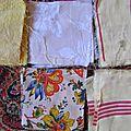 Coupons de <b>tissu</b> <b>ancien</b> , patchwork lot
