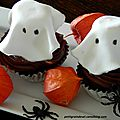CUPCAKES FANTOMES D'HALLOWEEN
