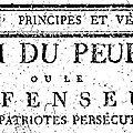 Chasles : L'<b>Ami</b> du Peuple. ( 1 ).