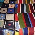 2 <b>Plaids</b> vintage en tricot