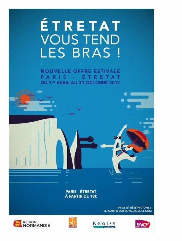 Ce n'est pas une blague: PARIS / ETRETAT en TRAINBUS