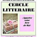 Compte rendu du <b>Cercle</b> littéraire du 16 mai 2017