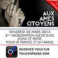 Mobilisation silencieuse pour la France et pour le mariage : 22 mars prière et jeûne