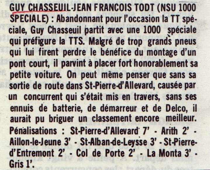 1967 - XIVe Crit N&G - Article sur Guy Chasseuil