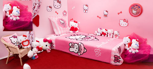 d co chambre fille hello kitty. Black Bedroom Furniture Sets. Home Design Ideas