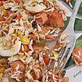 salade de riz terre et mer