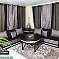 Rideaux salon marocain de tendance gris noir 2014