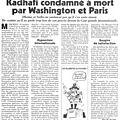 le <b>Canard</b> <b>Enchaîné</b> révèle que Obama et Sarkozy ne voulaient pas Kadhafi vivant