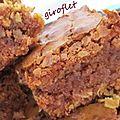 brownies chocolat, caramel et <b>noix</b>