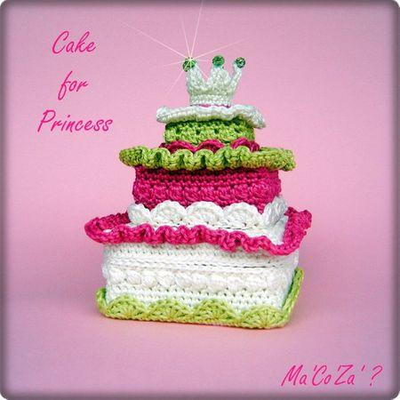 Gateau de princesse au crochet