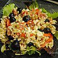 Salade d'<b>Ebly</b>, poivrons et féta
