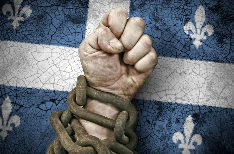 Quebec independance menottes