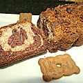 Crumble-cake marbré spéculoos/vanille