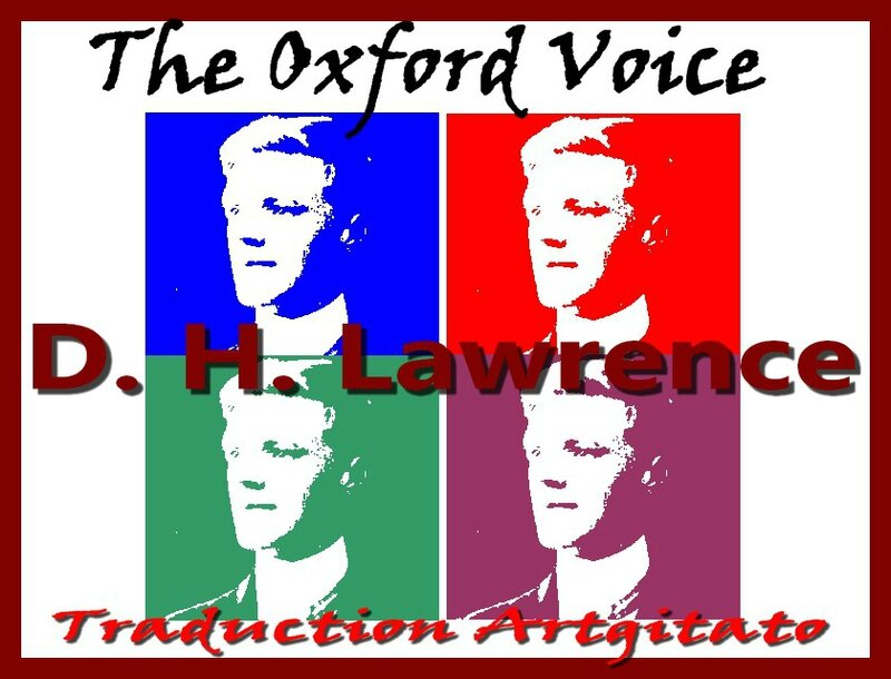 The Oxford Voice dh lawrence Traduction Française Artgitato L'accent d'Oxford