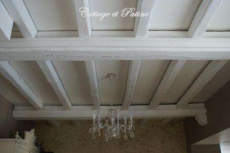 Cottage et patine le blog - Comment peindre des poutres en blanc ...
