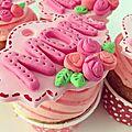 ♥ <b>Cupcakes</b> fête des mères ♥