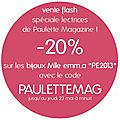vente flash sur *la petite boutique en ligne*