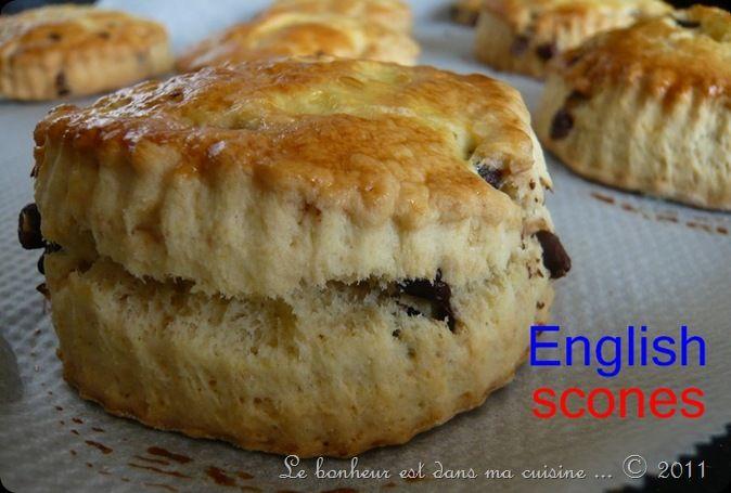 recettes dessert  Scones aux pépites de chocolat